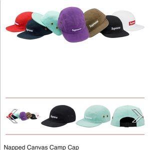 a81fe9139c3 Supreme Accessories - Supreme napped canvas camp cap